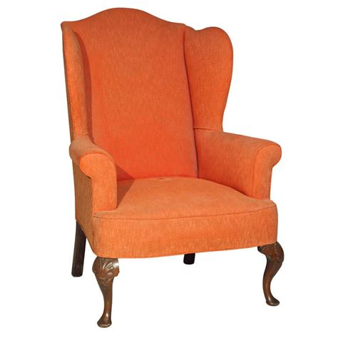 large folding cing chairs large george iii style wing chair at 1stdibs