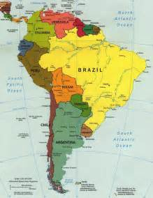 western south america map south america other maps