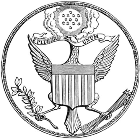 united states seal coloring page first great seal of the united states front clipart etc