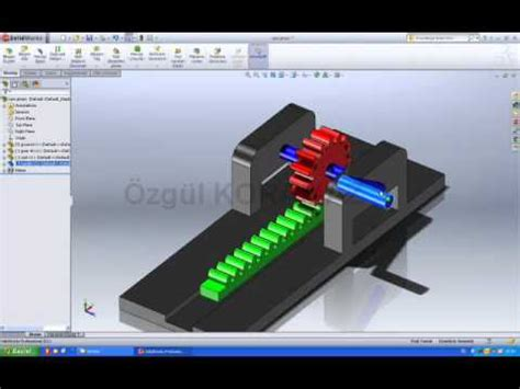 solidworks rack ve pinion 2