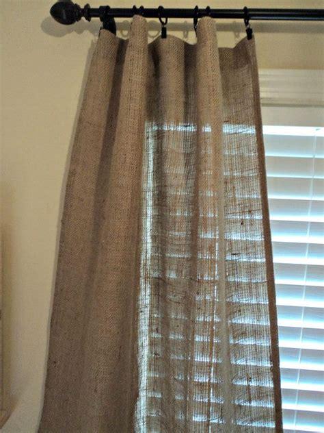 etsy curtain panels set of burlap curtain panels 84 quot french farmhouse coastal