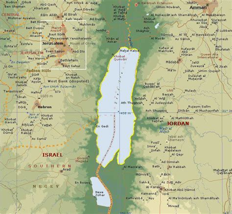 dead sea map dead sea a salt lake in israel travel featured