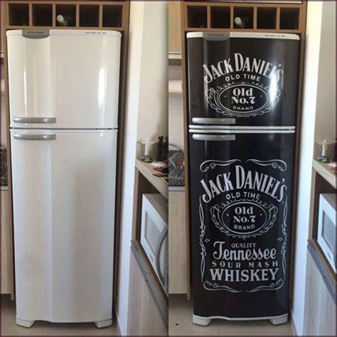 geladeira personalizada em adesivo   fridge decor