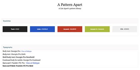 Pattern Library A List Apart | 5 useful pattern libraries to enhance your web development