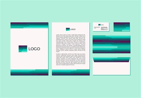 free stationery layout free emerald vector letterhead design download free