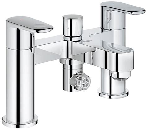bathroom taps grohe grohe europlus deck mounted bath shower mixer tap