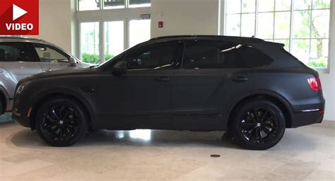 bentley suv matte black bentley bentayga quot stealth edition quot is as matte as it gets
