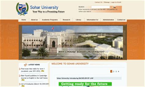 Colleges In Oman Offering Mba by Study In Oman Top Universities In Oman Oman Sohar