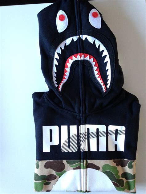 Jaket Bape Hoodie A Bathing Ape 7 x bape shark hoodie a bathing ape camo size m