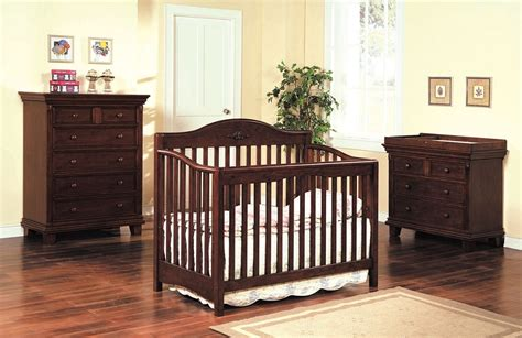 Cherry Oak Crib by The Heartland Cherry Finish Solid Wood Baby Crib