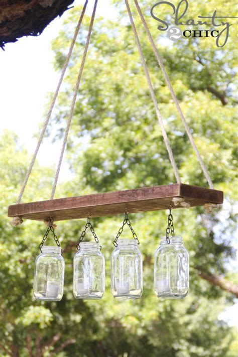 Outdoor Chandelier Diy 30 Diy Jar Lighting Ideas On A Budget