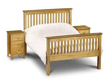 High Bed Frame Bedroom Furniture Barcelona Pine High Foot End Bed Frame Kenny Pine Shaker Bedroom Furniture 163 99 163 449