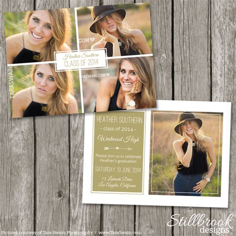 senior photo card templates looking graduation announcement templates