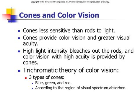 according to the trichromatic theory of color vision chapter 10 sensory physiology ppt