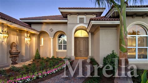 House Plans Florida by Mirella A Modern Mediterranean Home Plan Youtube