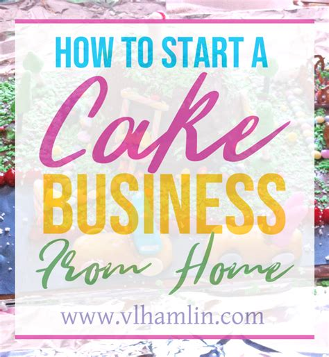 how to start a cake business from home food design