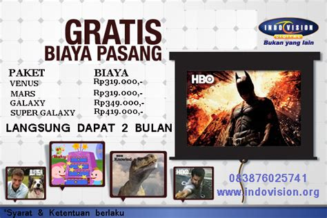 Harga Paket All Channel K Vision promo indovision terbaru februari 2014 info pay tv