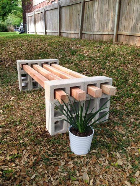 cinder block bench diy fab everyday because everyday life should be fabulous
