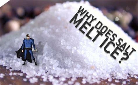 why do people put salt on ice? why does salt melt ice? why