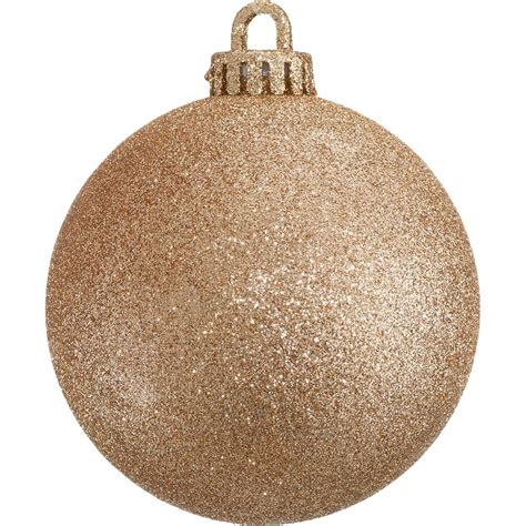 glitter baubles rose gold dzd