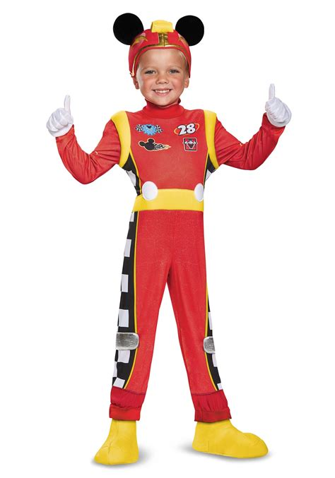 costumes for mickey roadster deluxe toddler boys costume