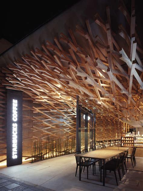 weave shops in tokyo starbucks coffee by kengo kuma tokyo 187 retail design blog
