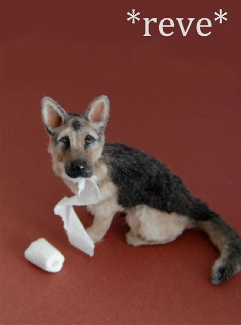 miniature german shepherd puppies miniature german shepherd sculpture by reveminiatures on deviantart