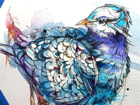 tattoo pen watercolor mourning dove tattoo commission i just completed pen ink