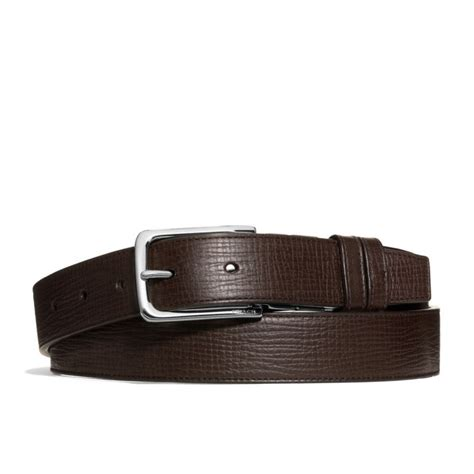 couch belts coach dress weston box grain leather belt in brown for men