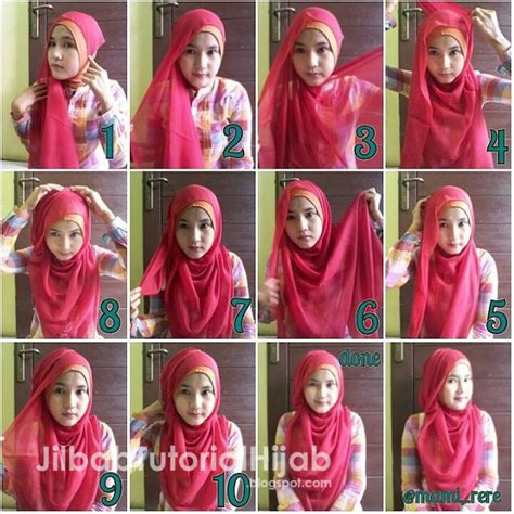 tutorial hijab segi empat ikat leher 6 tutorial hijab segi empat untuk wajah bulat jilbab