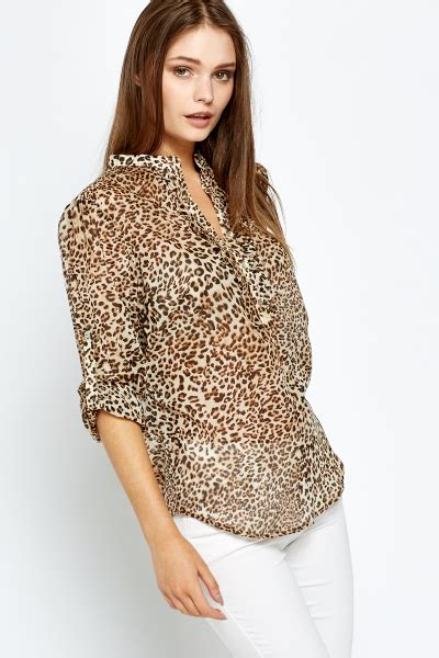 Animal Print Blouse by Casual Leopard Print Blouse Just 163 5