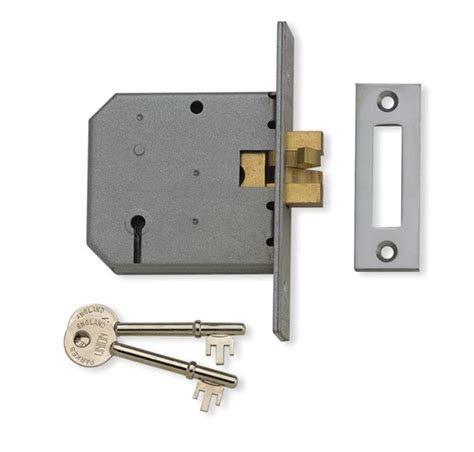 Door Locks by Union 2477 3 Lever Sliding Door Lock