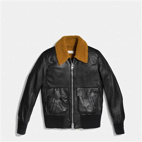 Jaket Bomber Wash Jaket Bomber B Jaket Bomber Jaket coach mens leather jackets washed leather aviator bomber jacket