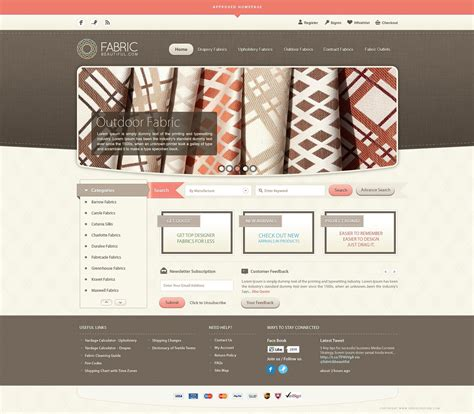 Fabric Beautiful Website Design Inspiration Fribly Fabric Website Templates