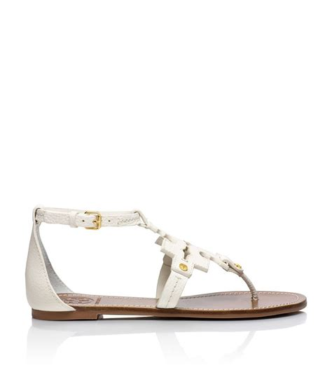 burch phoebe sandal burch phoebe flat sandal in white lyst