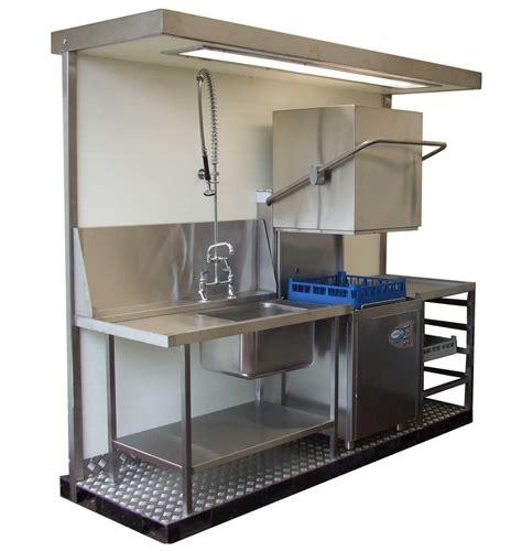 Temporary Kitchen Backsplash hire mobile kit kitchens event kitchens