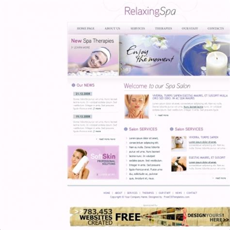 Relaxing Spa Template Free Website Templates In Css Html Js Format For Free Download 3 77mb Free Spa Website Templates