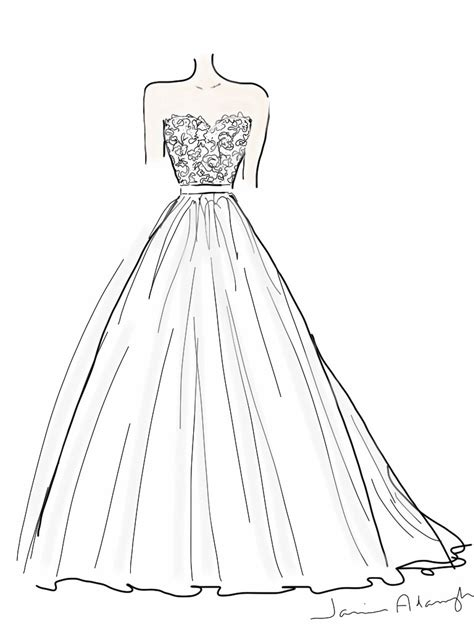Wedding Dresses With Color And Design by Dress Sketch Easy Design Wedding Dress Pencil And