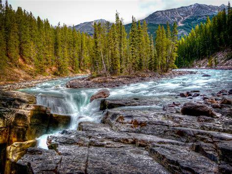 sunwapta falls sunwapta falls hdr thomas zasso flickr