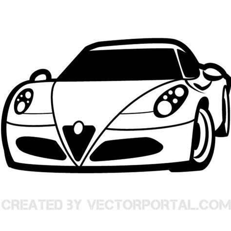 car logo black and white racing car clip art vector download at vectorportal