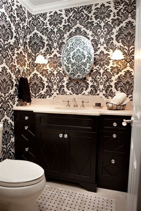 black white and bathroom decorating ideas breathtaking black and white damask bathroom set