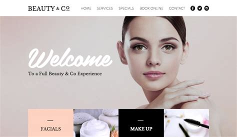 Hair Beauty Website Templates Fashion Beauty Wix Cosmetic Website Templates