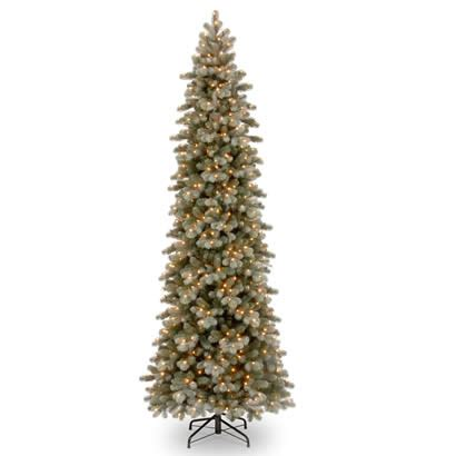 12 ft feel real frosted spruce slim christmas tree w 950