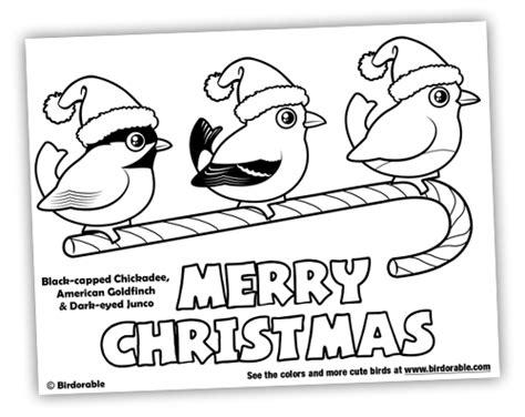 christmas bird coloring page blog archive november 2010 birdorable blog