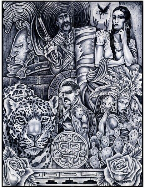 imagenes aztecas chicanas chicano love chicano art pinterest chicano love and