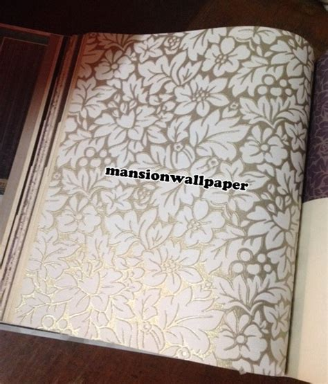 jual wallpaper bunga jual wallpaper dinding bunga putih gold mansion
