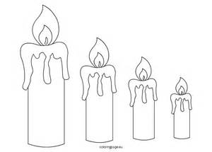 candle templates coloring page
