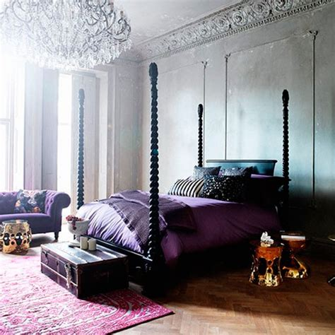 purple boudoir bedroom dramatic venetian style bedroom decorating housetohome