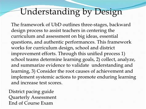 the understanding by design guide to creating high quality units ubd edi soh presentation