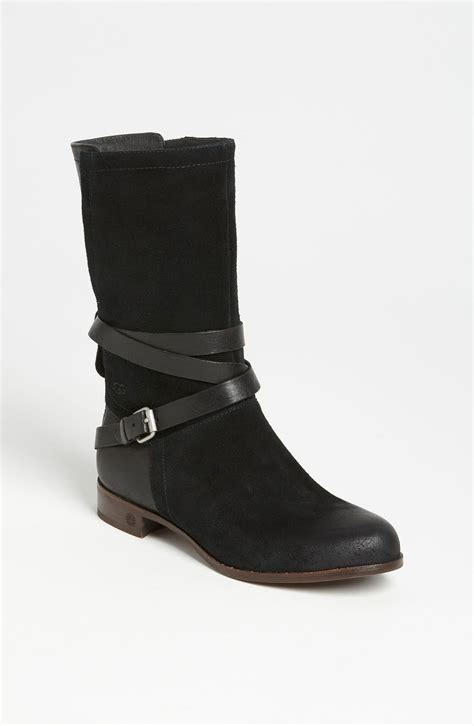 ugg boots for black ugg deanna boot in black lyst